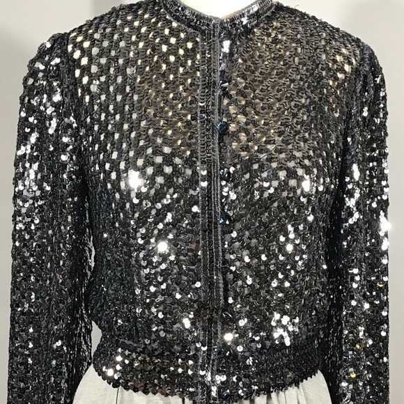 ddc99811 Harry Acton for Party Collectibles Jackets & Coats | Silver Sequin ...
